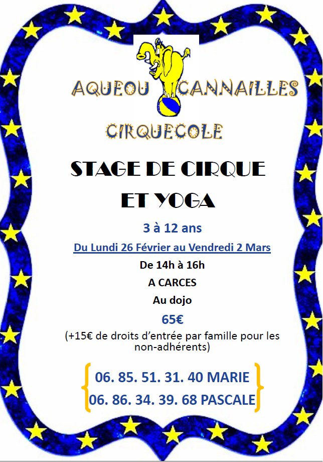 Stage cirque et yoga
