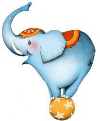 Sticker circus1 l elephant
